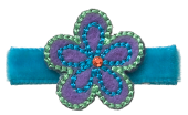No Slippy Hair Clippy Tilly Flower Turquoise