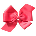 No Slippy Hair Clippy Whitney Queen Bow Shocking Pink