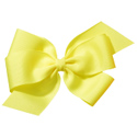 No Slippy Hair Clippy Whitney Queen Bow Yellow