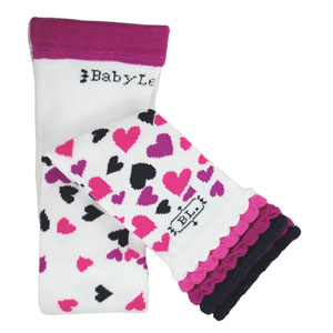 BabyLegs Falling Hearts Footless Tights