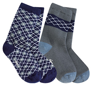 See Kai Run Grand Argyle - navy (2 prs)