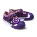 Morgan & Milo Ginger Felt Floral Deep Purple