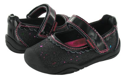 Pediped Grip n Go Harlow Black Glitter