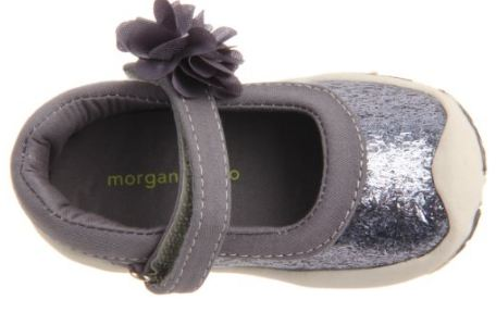 Morgan & Milo Infant Sparkle Floral MJ Tornado Grey