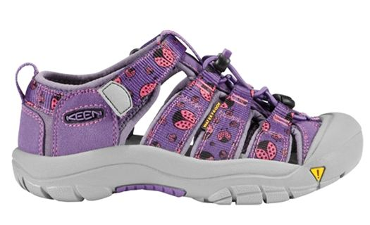 Keen Newport H2 Purple Heart Ladybug Print Infants