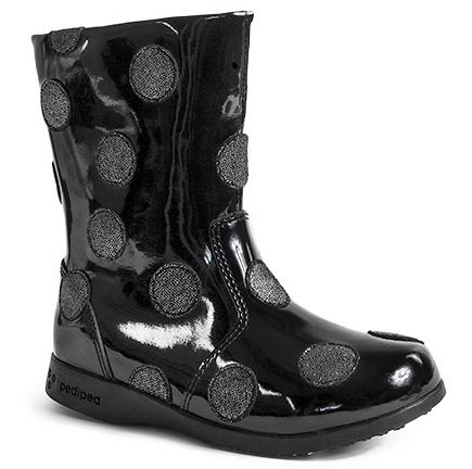 Pediped Flex Giselle Boot Black Patent