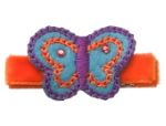 No Slippy Hair Clippy Tilly Butterfly Orange