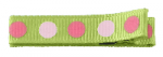 Clipettes Prints - Dots Lime (2 Clips)