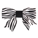 No Slippy Hair Clippy Black Zebra