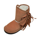 L'Amour A660 Fringe Boot Tan