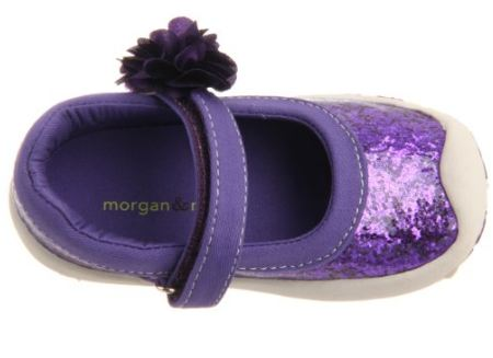 Morgan and Milo Infant Sparkle Floral MJ Purple