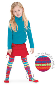 Country Kids Red 3D Kaleidoscope Tights