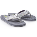 Morgan and Milo Sparkle Flip Flop Silver
